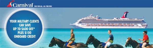 carnival military discounts july 2013