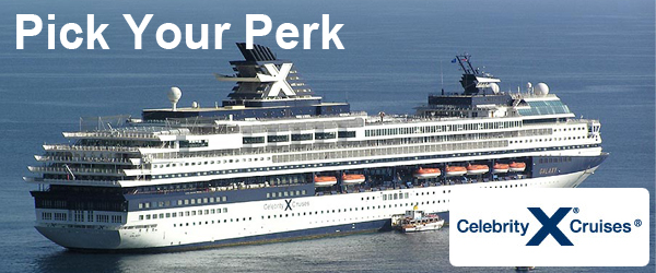 Pick Your Perk with Celebrity Cruises (by Oct 6th!)