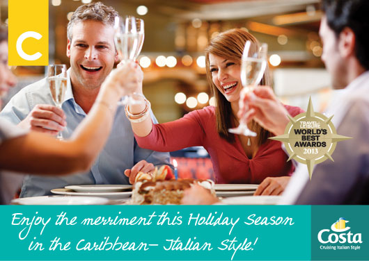 70% Off Holiday Caribbean Cruises with Costa