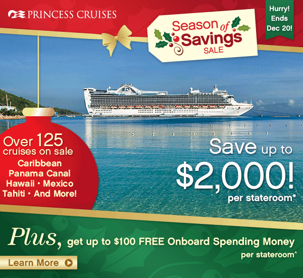 Princess Cruises Season of Savings
