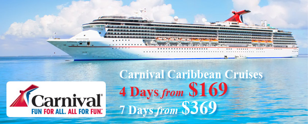 Carnival Cruises to The Caribbean – 4 Days from $169