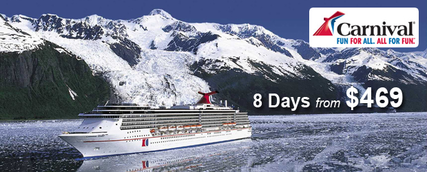 Carnival Alaska Cruises from $469