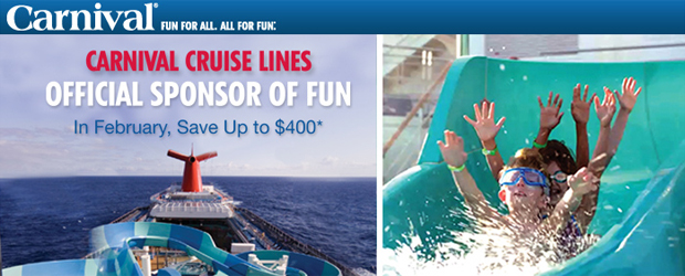 In February, Save up to $400 with Carnival