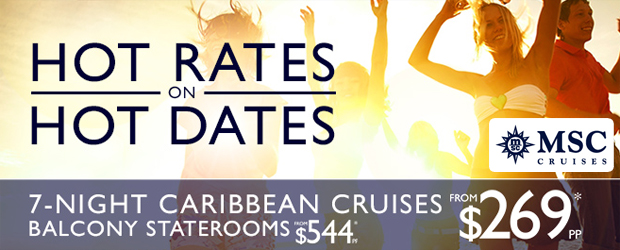 Hot Rates on MSC Caribbean Cruises