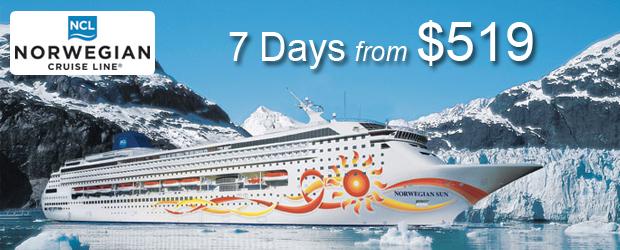 NCL Alaska Cruises from $519