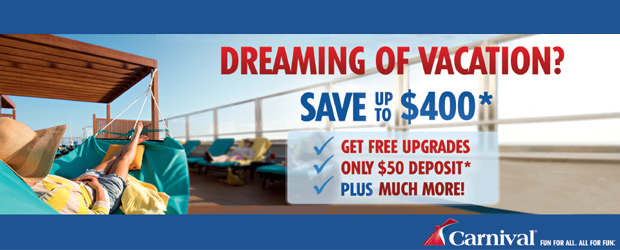 Carnival Discount Cruises Starting at $139